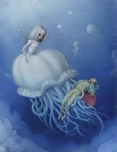 Lady Blue Bell by Nicoletta Ceccoli