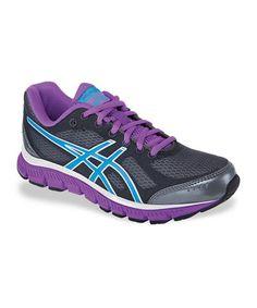 Loving this Titanium & Blue Gel-Flash Running Shoe - Women on #zulily! #zulilyfinds