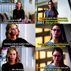 """""""You have a foster mother? That's midly intriguing."""" - Cat and Kara #Supergirl"""