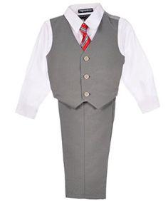 "Andrew Fezza ""Rifkind"" 4-Piece Vest Set (Sizes 0M - 9M) - gray, 6 - 9 months Andrew Fezza. $14.99"