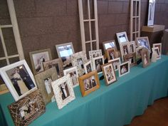 A great way to personalize your wedding is to display pictures of yoursleves and wedding photos of your parents and grandparents.