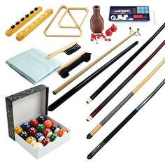 Have to have it. 32 Piece Billiards Accessories Kit - $129.99 @hayneedle
