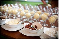 Mashed potato martini bar, INGENIOUS AND DELICIOUS!  Will try with french fries for a poutine martini bar one day :)