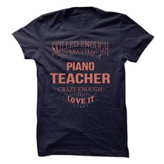 Piano Teacher - #wifey shirt #boyfriend hoodie. CHEAP PRICE => https://www.sunfrog.com/LifeStyle/Piano-Teacher-61560138-Guys.html?68278
