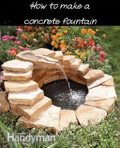 DIY Fountain made from Slabs -