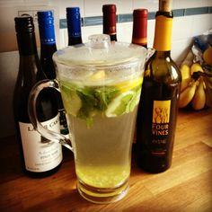 Detox Water-Mint, cucumber, ginger, lemon.