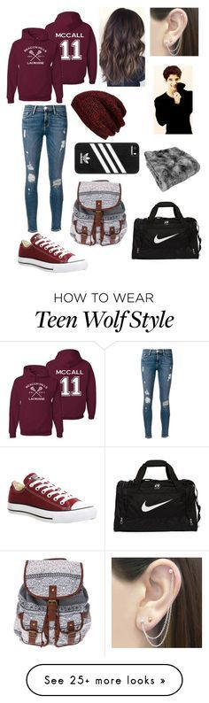 """Watching Scott McCall's Lacrosse Gamr"" by learning-to-love on Polyvore featuring Frame Denim, Converse, NIKE, adidas, King & Fifth Supply Co. and Otis Jaxon"