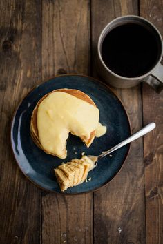 Cornbread Pancakes with Maple-Lemon Curd from Natually Ella