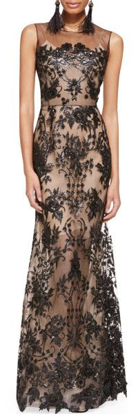 Love this: Embroidered Lace Gown Blacknude @Lyst