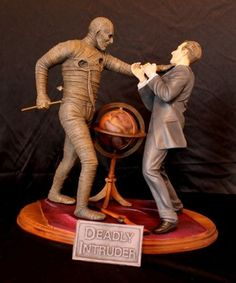 "Resin Crypt's ""Deadly Intruder"" kit based on Hammer's The Mummy. Sculpture is by Robert Price."