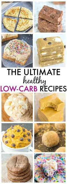 The Ultimate Healthy Low Carb Recipes which taste anything but- Quick, easy and delicious! {vegan, gluten free, paleo and sugar free options