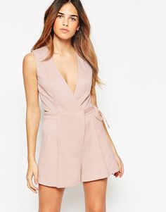 ASOS Romper with origami wrap found on Nudevotion