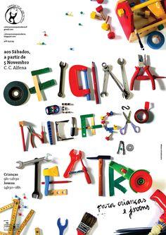 Cabeças no Ar e Pés na Terra posters by André Santos, via Behance