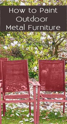 When the weather starts to warm up, people are starting to think about fixing up their yards and outdoor furniture. If you're thinking about painting your metal outdoor furniture, here are a few things to know before you start the project. Metallic Painted Furniture, Metal Furniture, Paint Furniture, Furniture Projects, Furniture Makeover, Outdoor Furniture, Antique Furniture, Modern Furniture, Geek Furniture