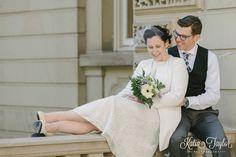 Toronto City Hall Wedding - Osgoode Hall bride and groom portraits.
