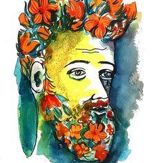 Flower Beard #hipster #beards