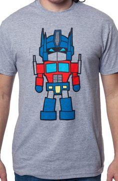 8-Bit Optimus Prime Shirt: 80s Cartoons Transformer Autobot T-Shirt
