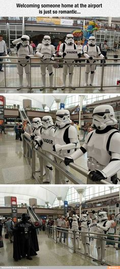 """Inform the commander that Lord Vader's shuttle has arrived."" Denver Airport, Funny Airport Signs, Airport Welcome Signs, Funny Welcome Signs, Humor Divertido, Funny Pictures, Random Pictures, Funny Pics, Funny Darth Vader"