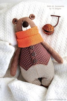 Stoffe und wolle fr spielzeug tildpuppen usw fr spielzeug stoffe tildpuppen und usw wolle these diy stackable fabric rings are destined to become your baby s new favourite toy Doll Clothes Patterns, Doll Patterns, Sewing Patterns, Bear Patterns, Fabric Animals, Felt Animals, Softies, Fabric Toys, Paper Toys