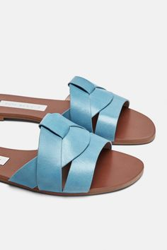 cfbcfada2e37 Image 5 of LEATHER CROSSOVER SANDALS from Zara Crossover