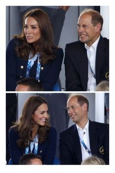 The Duchess of Cambridge and Prince Edward at the Glasgow Commonwealth Gamed 28th July 2014