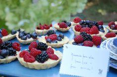 Fruit tarts for the dessert table