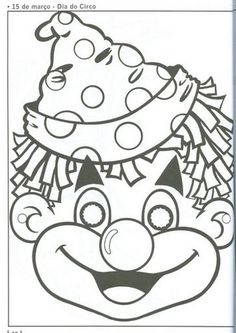 clown mouth coloring pages - photo#25