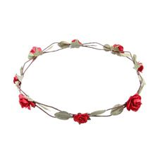 Red Paper Roses Flower Crown