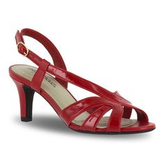 Easy Street Desi Women's Dress Sandals, Size: 7.5 Ww, Brt Red