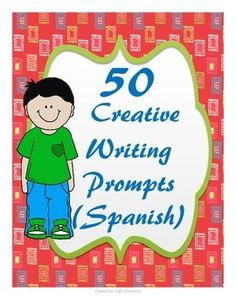 50 Writing Prompts Cards:  They can be used in your class in many different and creative ways.  You can use them in a writing center, writing journal, small group or use your imagination.Included:50 Writing Prompts CardsRelated Products:50 Writing Prompts Thanks for buying my product,Cantu CreationsFeedback is really appreciated!!!!Note:  If you are interested in more Spanish resources make sure to follow me clicking the star next to my name.