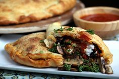 Olives for Dinner | Vegan Recipes and Photography: Homemade Vegan Sausage and Cheese Calzones