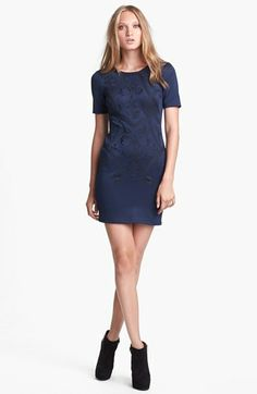 ASTR Embroidered Body-Con Dress | Nordstrom - I need something like this (maybe a little longer) for my work banquet