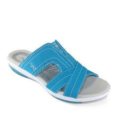 Look at this #zulilyfind! True Teal & Dove Ryka Tensile Sandal by Ryka #zulilyfinds