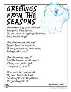 Greetings from the Seasons Children's Poetry | Woo! Jr. Kids Activities