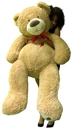 f803349dcec 5 Foot Giant Teddy Bear Huge Soft Tan with Bigfoot Paws Giant Stuffed  Animal 60 Inch