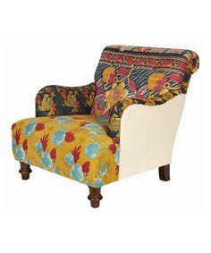 Take a look at this Fanciful Floral Vintage Kantha Blanket Arm Chair by ACG Green Group on #zulily today!