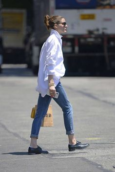 Olivia Palermo in Jeans – Out in New York - July 2018