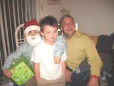 Christmas Eve, with my two grandsons Michael and Nicholas and my son Mike.
