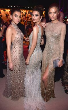 Hailee Steinfeld, Emily Ratajkowski & Josephine Skriver from Oscars 2017: Party Pics Everyone steps up their fashion for the Vanity Fair Oscar party, and these three are no exception.