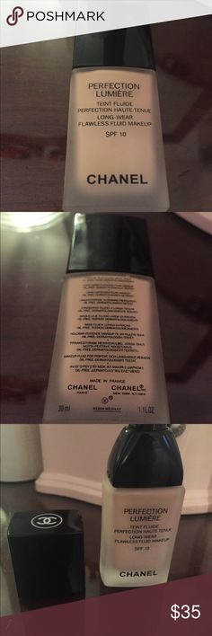 Chanel foundation in color 12 Beige. Never used! Never worn, never used. Chanel foundation in color 12 beige. Received as a gift, beautiful color but doesn't match mine! Enjoy 😘 Makeup Foundation