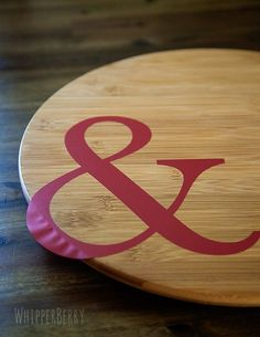Use vinyl to create a stencil for your lazy susan