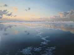 "Janhendrik Dolsma ~ ""Evening Sky"", 2009 ~ Oil on Panel 75 x 100 cm"