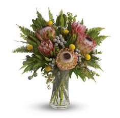 T10V Girraween. Beautiful Australian native vase arrangement makes the perfect long lasting gift.