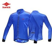 US $35.06 Santic Blue Cycling Bicycle Jersey Quick Dry Wind Rain Coat Motocross Downhill DH Jersey Bike Jerseys 2017 Cycle Clothing Male. Aliexpress product