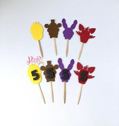 Five nights at Freddy's Cupcake Toppers FNAF Cupcake