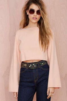 Annalisa Crop Sweater | Shop Clothes at Nasty Gal WITH INDIGO BELL DENIMS.