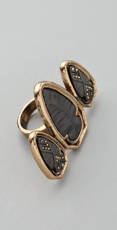 This House of Harlow ring fits right in with all the warrior trends we saw at NYFW.