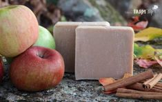 50+ DIY Homemade Soaps that Smell Amazing Cold Press Soap Recipes, Homemade Soap Recipes, Apple Cider, Apple Juice, Ginger Essential Oil, Essential Oils, Home Made Soap, Soap Making, Apple Orchard