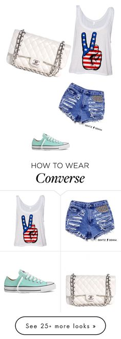 """""""World PEACE✌"""" by allison-b-1806 on Polyvore featuring Converse, Chanel, women's clothing, women, female, woman, misses and juniors"""
