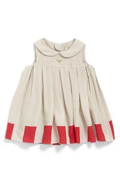 Armani Junior Pleated Dress (Baby Girls) | Nordstrom (It's a $300 baby dress... but it's pretty!)
